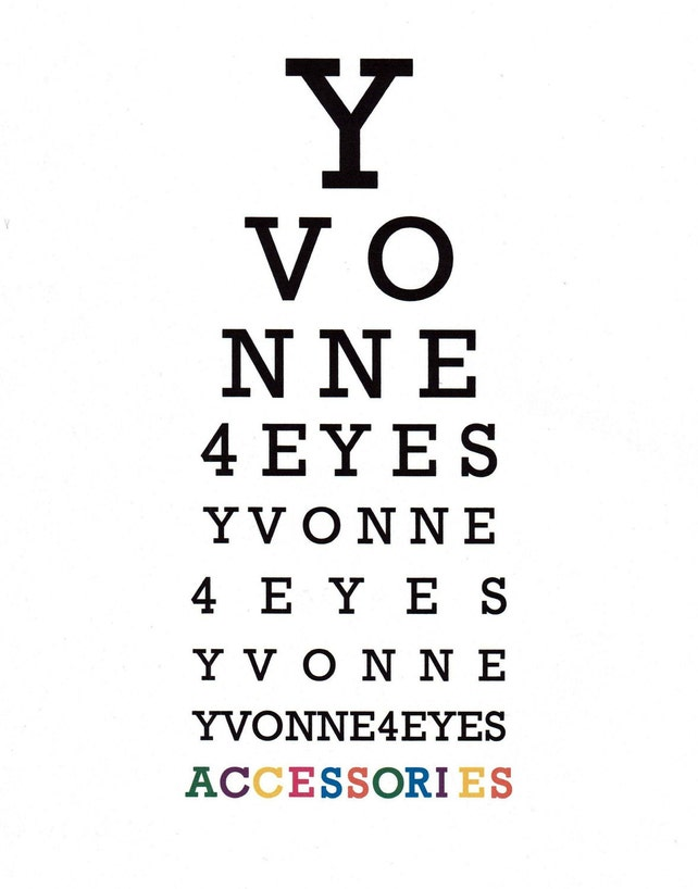 Eye Chart Pocket Mirroreye See You Eye Chartpocket Etsy