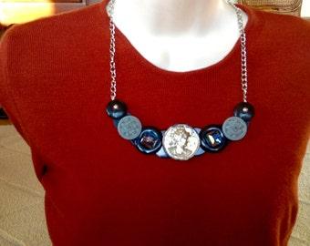 Roman soldier button necklace