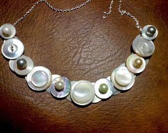 Classic Elegance button necklace