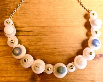 China Glass Button Necklace