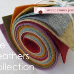 9x12 Wool Felt Sheets - A Collection of Heathers - 8 Sheets of Felt