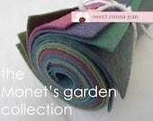 9x12 Wool Felt Sheets - The quot Monet 39 s Garden quot Collection - 8 Sheets of Felt