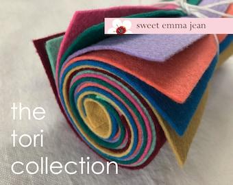 Wool Felt Sheets - The Tori Collection - Eight 9x12 Sheets of Felt