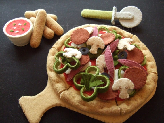 Felt Food Toys R Us : Felt food pattern pizza party set pdf diy