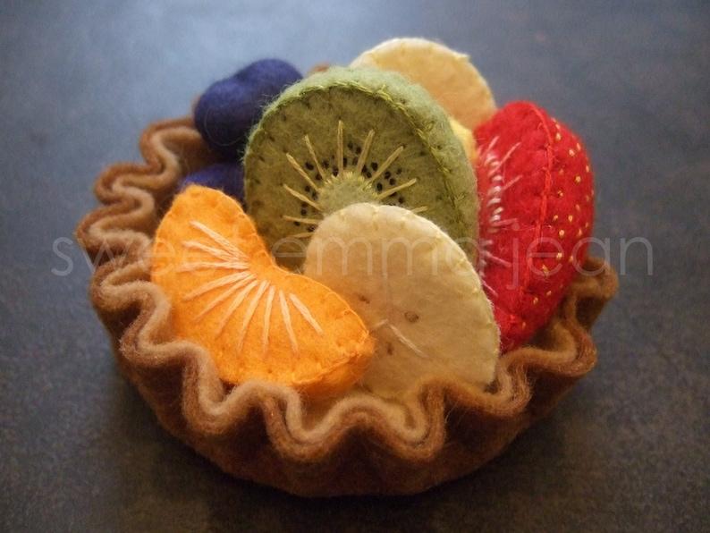 Felt Play Food Pattern  Fruit Salad and Fresh Fruit Tart PDF image 0