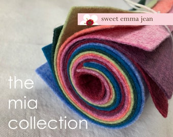 9x12 Wool Felt Sheets - The Mia Collection - 8 Sheets of Felt