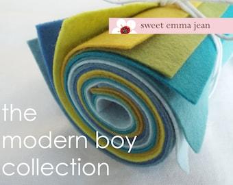 9x12 Wool Felt Sheets - The Modern Boy Collection - 8 Sheets of Felt