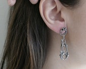 Flourishing Teardrop Silver Earrings / AMARANTA Collection