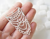 READY to SHIP - SUKKAR Silver Necklace - Moroccan Sugar - Handmade, organic, lacy, bohemian, henna, bridal jewelry, amulet