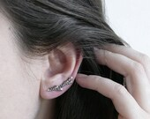 Ready to Ship! Lavender Branch Silver Ear Climber / AMARANTA Collection