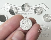 UNDER THIS MOON /  Big Additional Charms - Personalized moon phase charm of your special night, necklace, bracelet