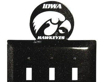 Iowa Hawkeyes Light Switch Triple Plate Cover
