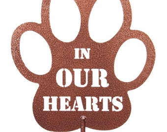 Hand Made In Our Hearts Coppervien Yard Art *NEW*
