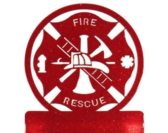 Fire Rescue Fireman Red Light Switch Plate Cover