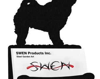SWEN Products CHOW CHOW  Dog Black Metal Business Card Holder