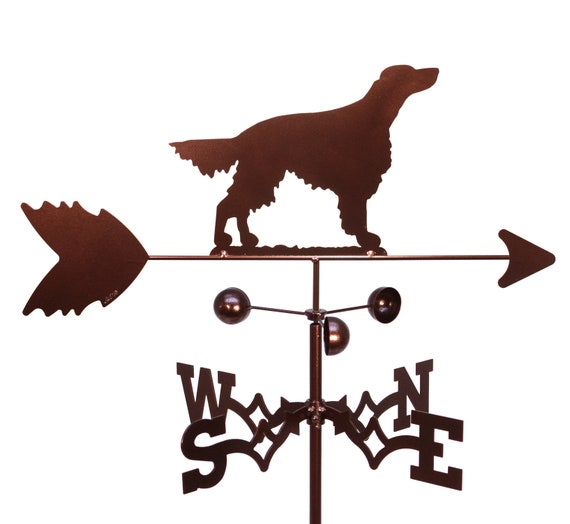 SWEN Products IRISH SETTER Dog Circle Swirly Metal Wind Spinner