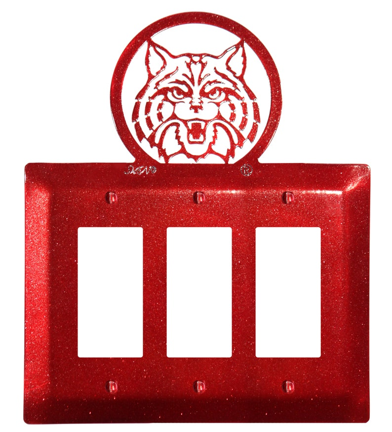 Arizona Wildcats Red Light Switch Triple Plate Cover