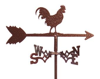 Mini Rooster Cuckoo Chicken Flower Pot Weathervane ~NEW~