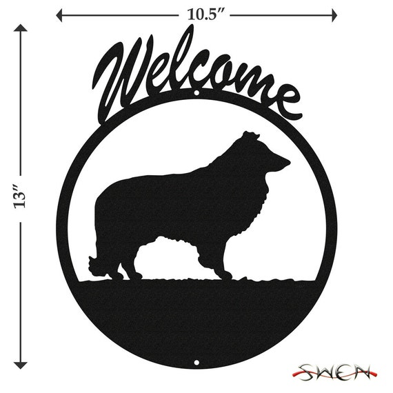 SWEN Products ENGLISH BULLDOG Dog Black Metal Welcome Sign