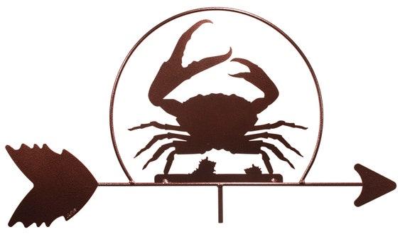 Handmade Crab Shellfish Steel Weathervane
