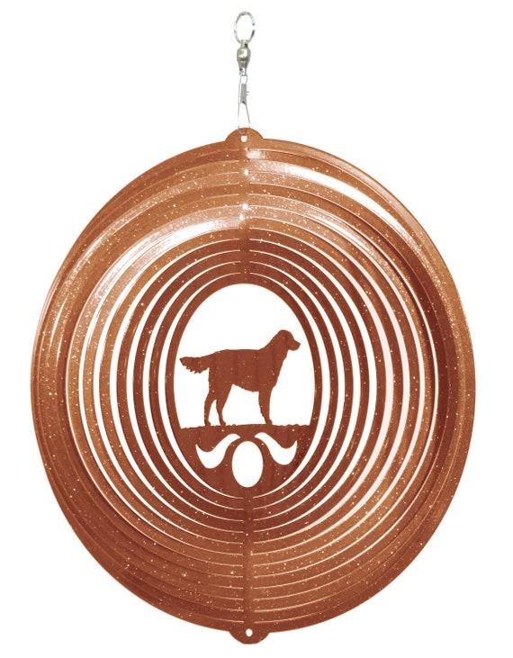 SWEN Products BULL MASTIFF Dog Circle Swirly Metal Wind Spinner