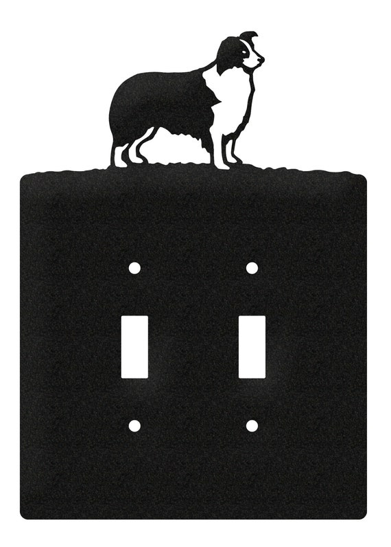 collies home decor bespoke gifts pet, dogs wooden light switch surround