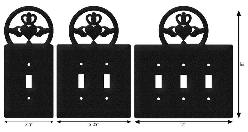 Claddagh Irish Celtic Light Switch Triple Plate Cover