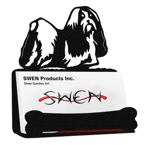 SWEN Products SHIH TZU Dog Circle Swirly Metal Wind Spinner