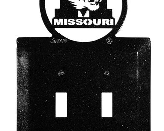 Missouri Tigers Light Switch Double Plate Cover