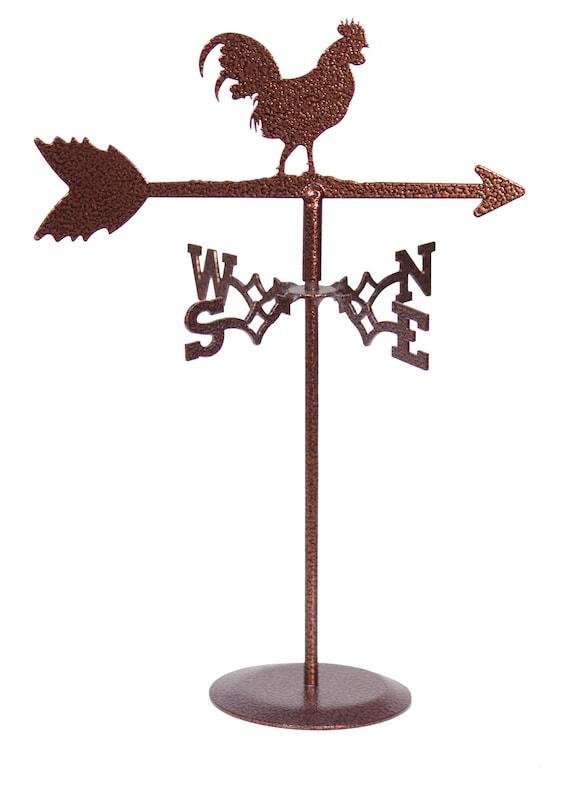 SWEN Products Mini ROOSTER COCK CUCKOO CHICKEN Flower Pot Birdhouse Weathervane