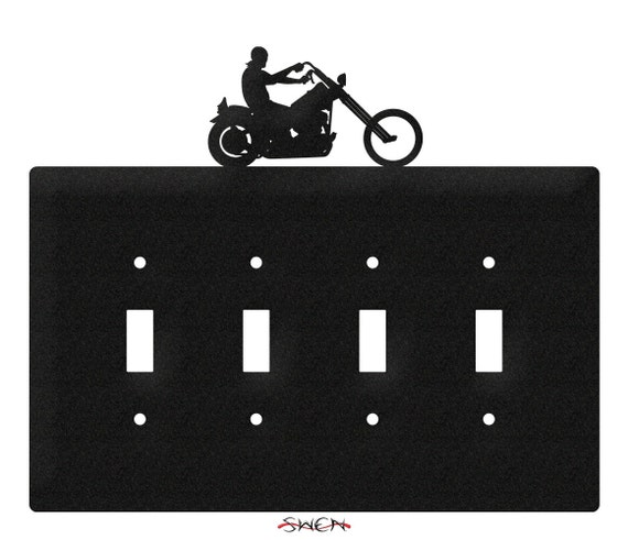 SWEN Products MOTORCYCLE EASY RIDER Black Metal Business Card Holder