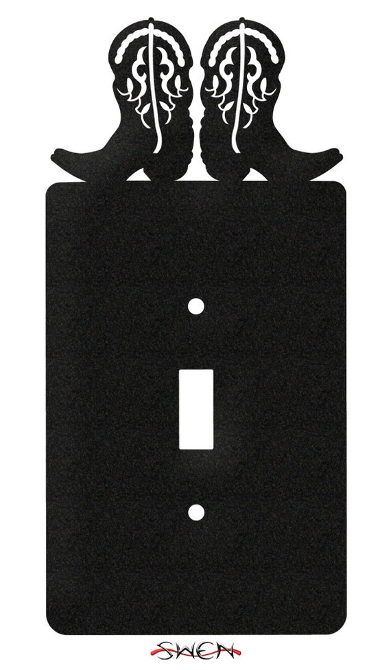 SWEN Products COWBOY BOOTS Black Metal Letter Napkin Card Holder