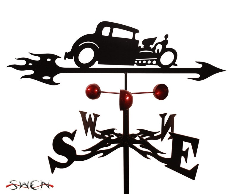Hand Made Farrell Hot Rod Auto Car Weathervane New