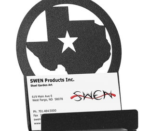 State of Texas Star Metal Business Card Holder