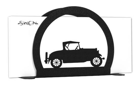Model A Old Car Auto Metal Letter Napkin Card Holder Etsy