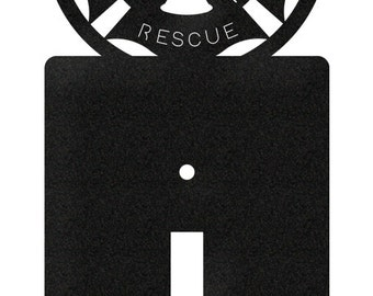 Fire Rescue Fireman Light Switch Plate Cover