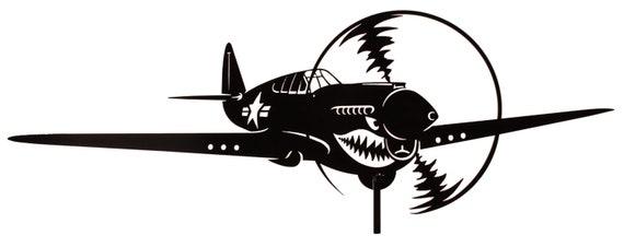 Farrell P40 Warhawk Steel Weathervane