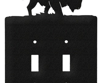 Bison Buffalo Light Switch Double Plate Cover