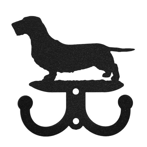 Ruwharige Teckel Hond 2 Haak Metalen Sleutelhanger Houder Etsy