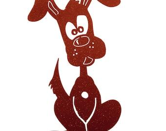 Hand Made Puppy Copper Yard Art *NEW*