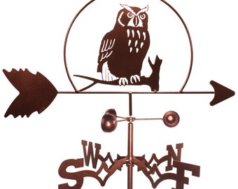 Hand Made Owl Hooter Bird Weathervane NEW