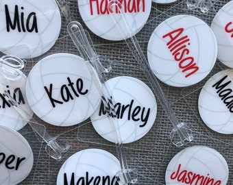 Volleyball Bag Tags BULK Order Listing Gifts Team Favor Volley Orders Of 8 Or More Only