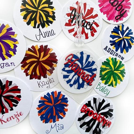 Dance Team Tags Pom Pom Team Tag Pom Squad Gift Cheer Team Gifts Pom Pom Tag Cheerleader Luggage Tag Cheerleading Bag Tags