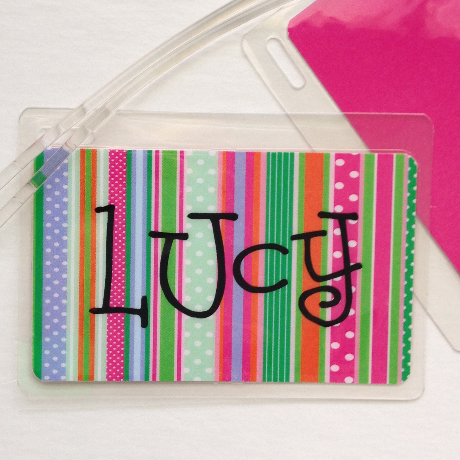Laminated Bag Tag Kids Luggage Girl Party Favor