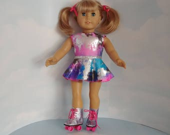 Rainbow Roller Skating Outfit 18 inch doll clothes #5