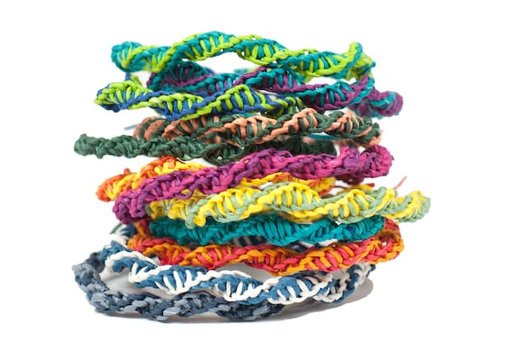 Diy Kit Paperyarn Friendship Bracelets Fun And Easy Personalize Choose 4 Colors Great Gift Diy Crafts Kids