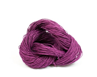 Paper Yarn - Paper Twine: Violet / Purple - Knit, Crochet, Textile Arts, DIY Supply, Gift Wrap, Weave - Washable and Eco-Friendly