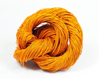 Paper Yarn - Paper Twine: Orange - Knit, Crochet, Textile Arts, DIY Supply, Gift Wrap, Weave - Washable and Eco-Friendly