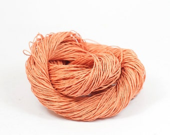 Paper Yarn - Paper Twine: Coral - Knit, Crochet, Textile Arts, DIY Supply, Gift Wrap, Weave - Washable and Eco-Friendly