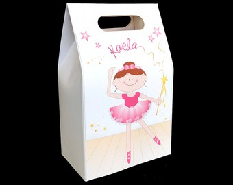 Ballerina party favors (set of 6 boxes) ballet dance party, favor box, treat box, personalized gift box, dance recital gift ideas